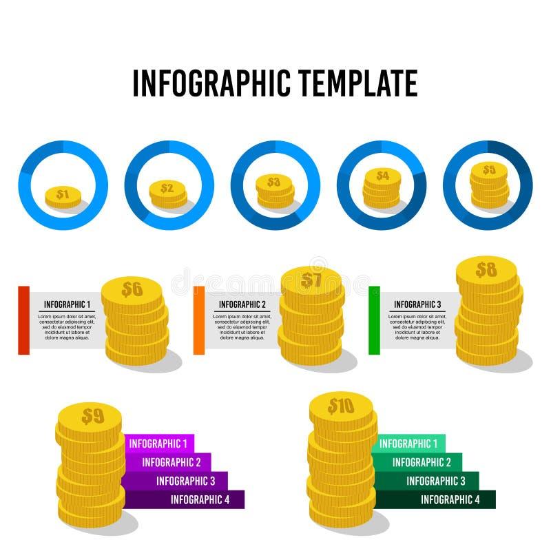 Шаблон дизайна денег infographic иллюстрация вектора