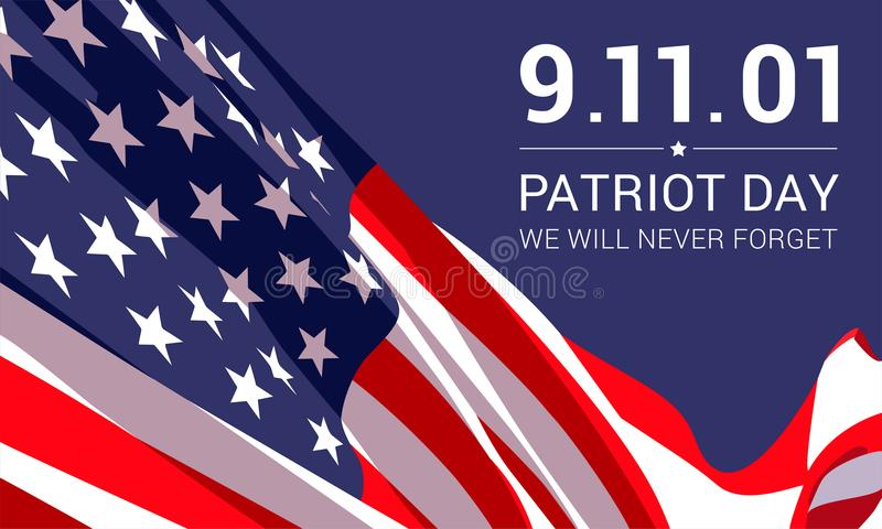 Шаблон дизайна знамени дня патриота бесплатная иллюстрация