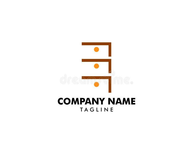Шаблон дизайна значка логотипа шкафа иллюстрация вектора
