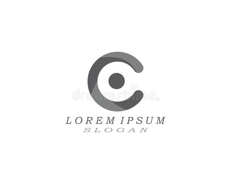 Шаблон дизайна значка логотипа c письма иллюстрация штока