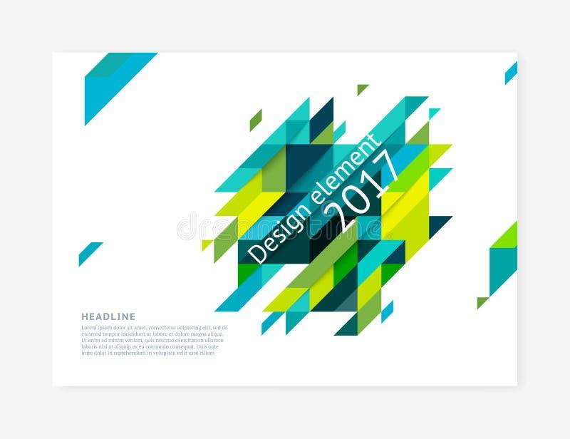 Шаблон дизайна крышки Minimalistic, творческая концепция, современная раскосная абстрактная предпосылка бесплатная иллюстрация