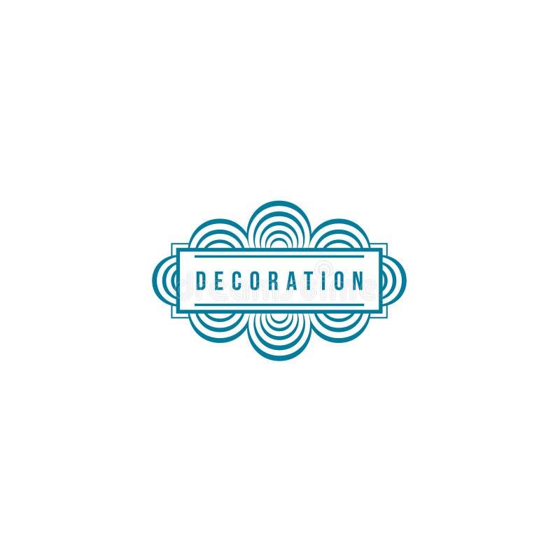 Шаблон дизайна логотипа вектора для бутика, гостиницы, ресторана, ювелирных изделий Роскошный вензель украшение стоковое изображение rf