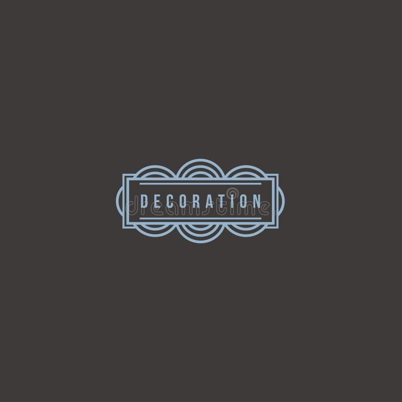 Шаблон дизайна логотипа вектора для бутика, гостиницы, ресторана, ювелирных изделий Роскошный вензель украшение стоковое фото rf