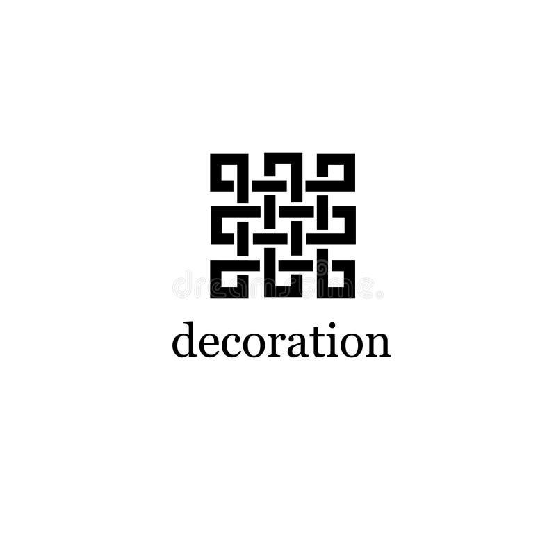 Шаблон дизайна логотипа вектора для бутик-отеля, ресторана, ювелирных изделий стоковое изображение