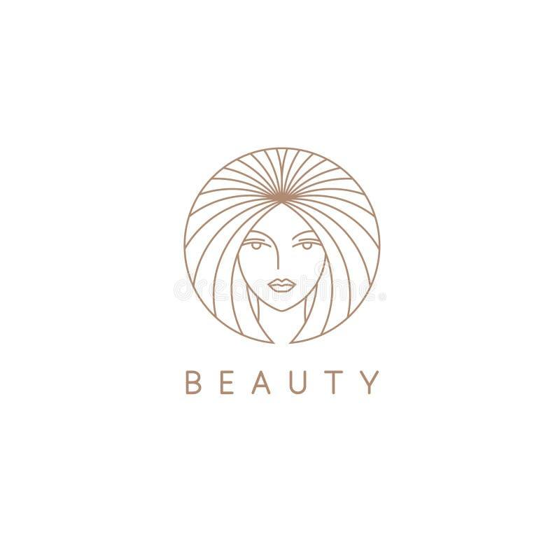 Шаблон дизайна логотипа вектора для салона красоты, парикмахерской, косметики стоковая фотография