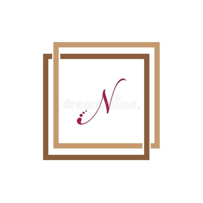 Шаблон дизайна логотипа вектора единства дела n письма корпоративный абстрактный иллюстрация вектора