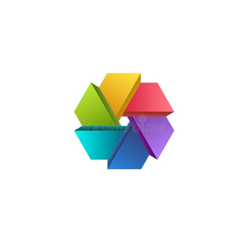 Шаблон дизайна логотипа вектора красочный для дела цветок конструкции цвета предпосылки флористический ваш стоковое фото