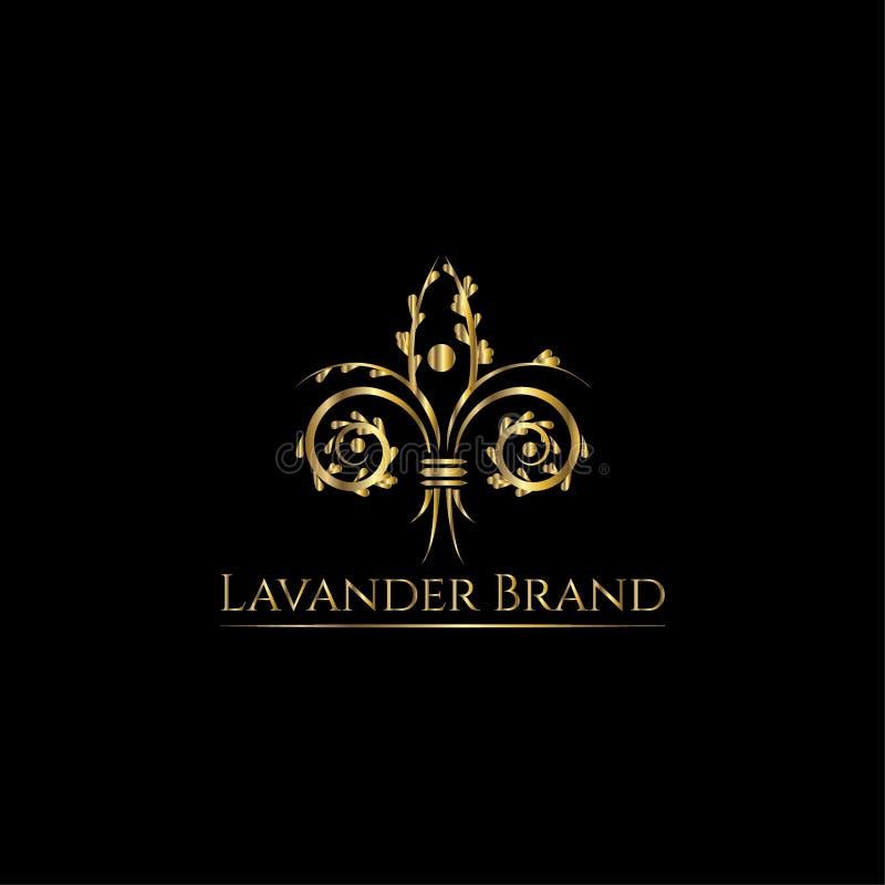 Шаблон дизайна логотипа вектора лаванды бесплатная иллюстрация