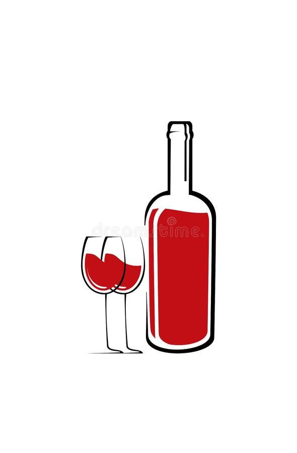 Шаблон дизайна логотипа вина Иллюстрация вектора значка бесплатная иллюстрация
