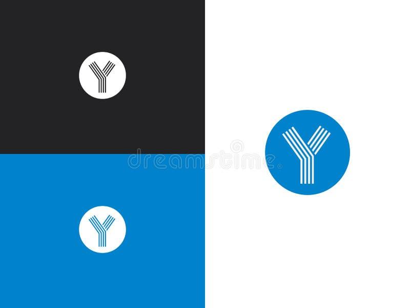 Шаблон дизайна логотипа Голубой значок вектора круга иллюстрация вектора