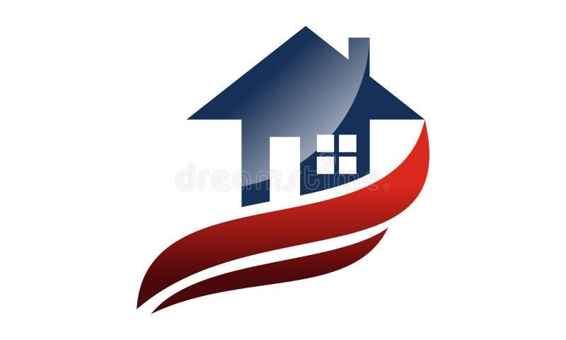 Шаблон дизайна логотипа дома иллюстрация штока