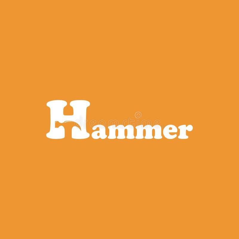 Шаблон дизайна логотипа молотка Конструируйте элементы для логотипа, ярлыка, эмблемы, знака иллюстрация вектора - вектор иллюстрация штока