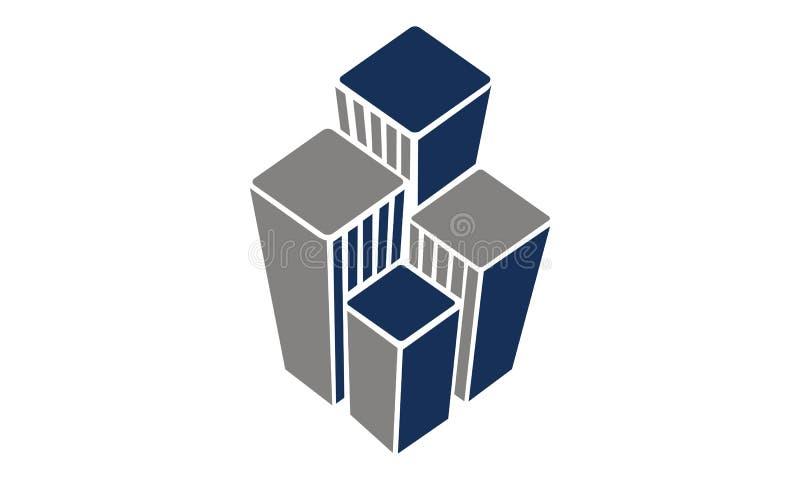 Шаблон дизайна логотипа недвижимости иллюстрация вектора
