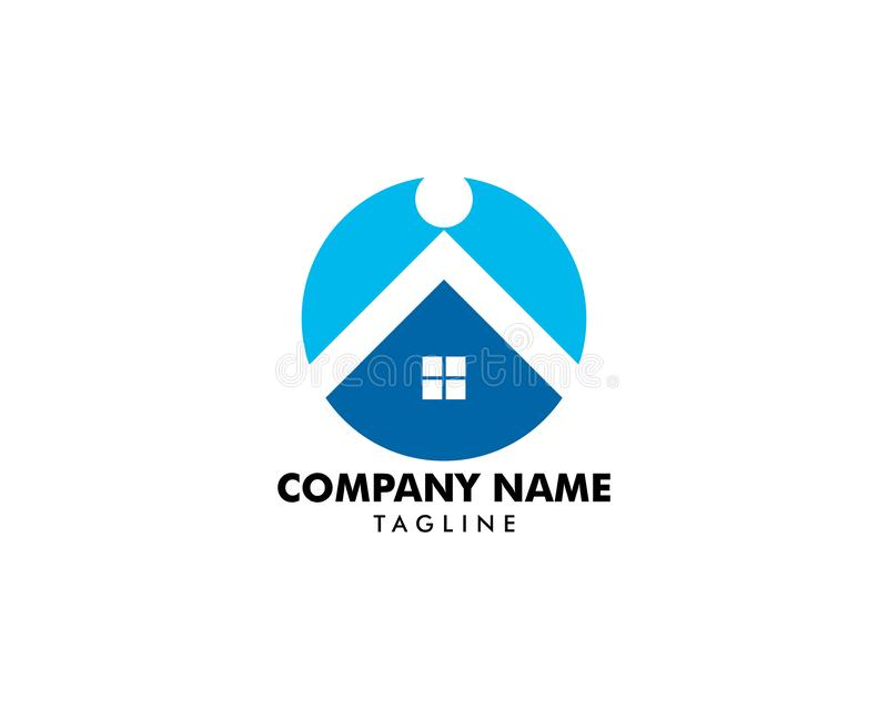 Шаблон дизайна логотипа общины людей дома бесплатная иллюстрация