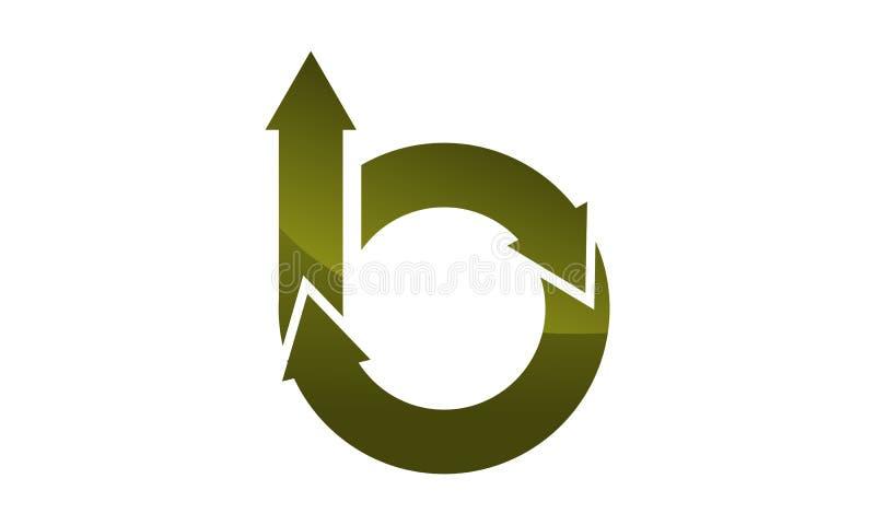 Шаблон дизайна логотипа письма b иллюстрация штока