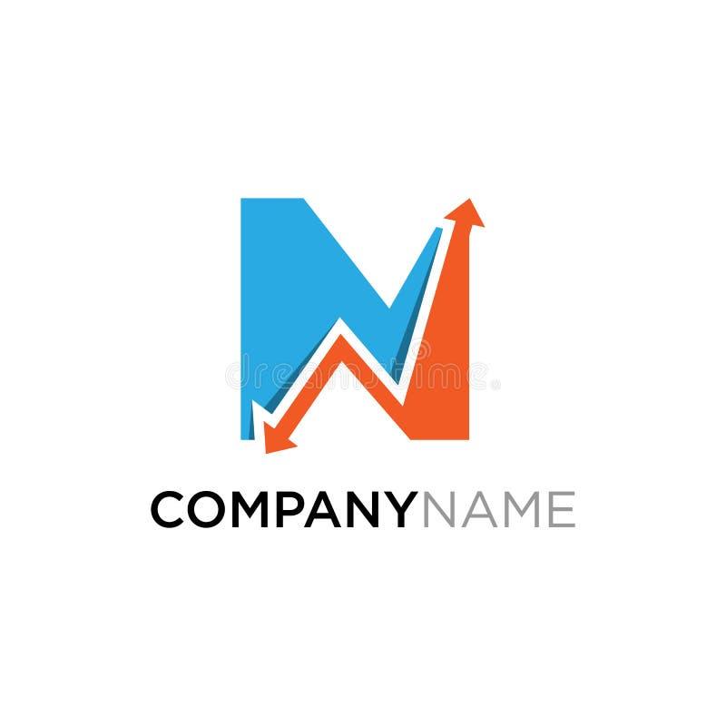 Шаблон дизайна логотипа финансов дела n письма бесплатная иллюстрация