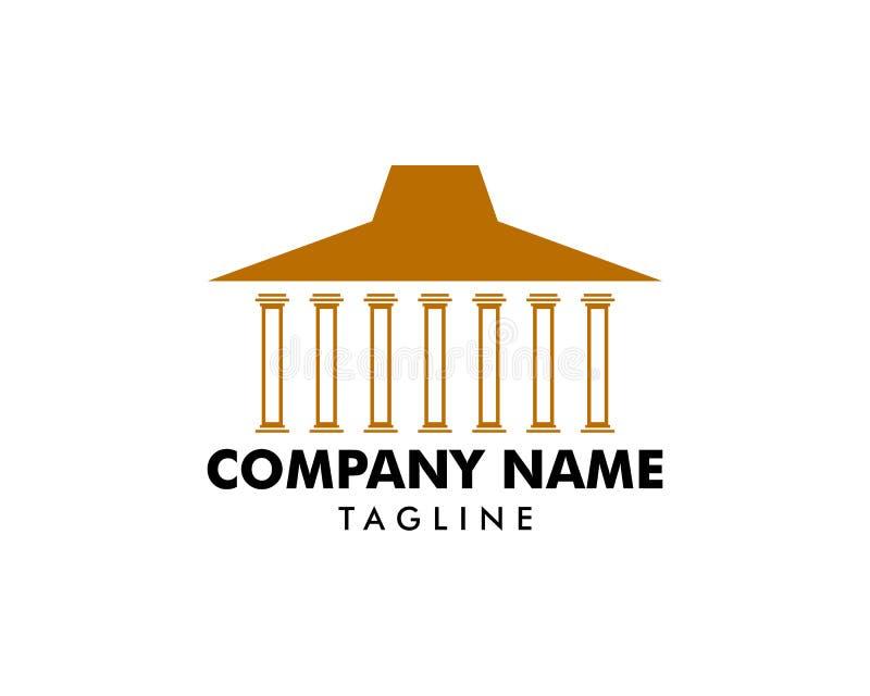 Шаблон дизайна логотипов традиционного дома Joglo бесплатная иллюстрация