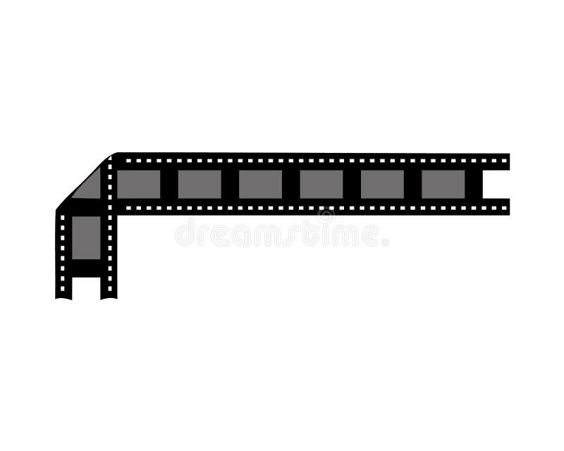 Шаблон дизайна плаката вектора кино Знак знамени предпосылки времени фильма светя иллюстрация вектора