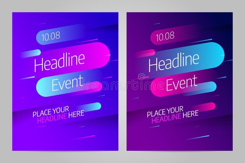 Шаблон дизайна плана вектора для события