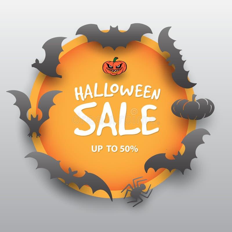 Шаблон дизайна предложения продажи хеллоуина бесплатная иллюстрация