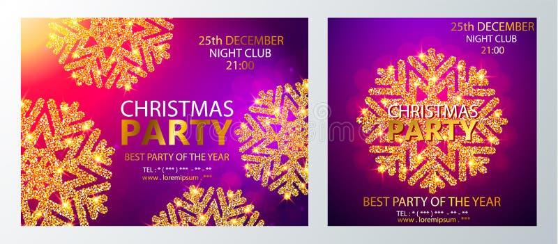 Шаблон дизайна рождественской вечеринки вектора также вектор иллюстрации притяжки corel иллюстрация штока