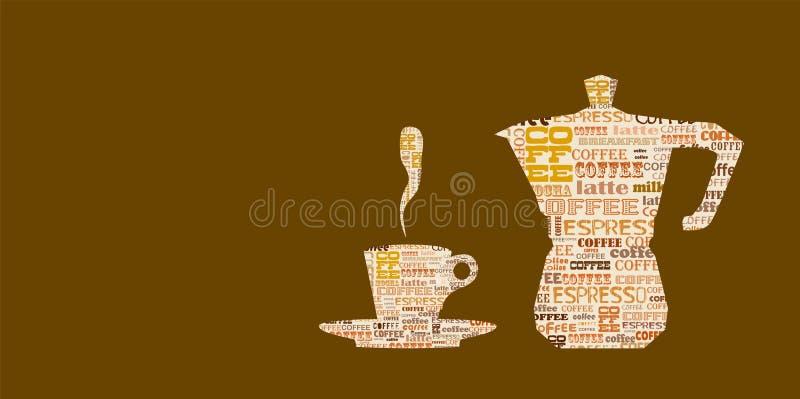 Шаблон дизайна /espresso кофе иллюстрация вектора