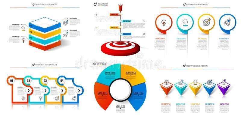 Шаблон дизайна Infographic Творческий набор диаграмм Смогите быть использовано для плана потока операций, диаграммы, знамени, web иллюстрация штока
