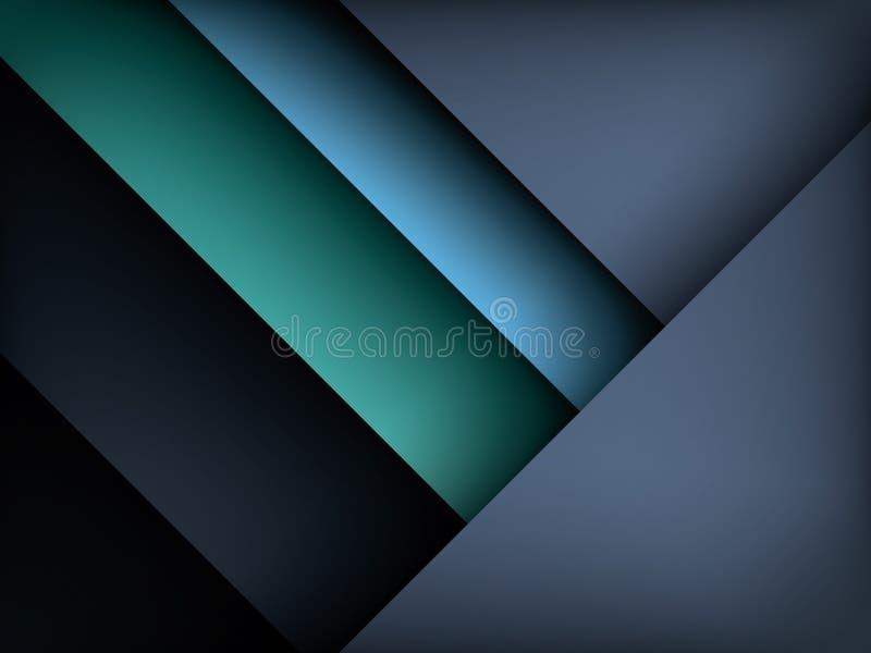 Шаблон для вебсайтов, отчет предпосылки вектора темного слоя современный, брошюра покрывает Современные обои технологии в темноте иллюстрация штока