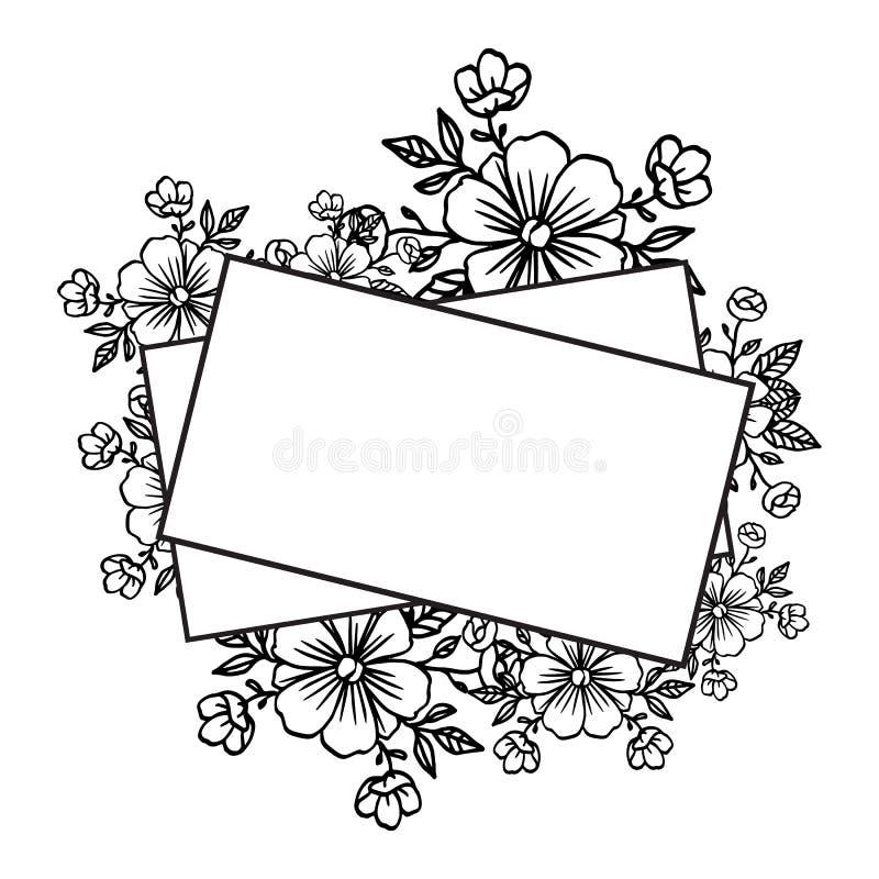 Шаблон для карты дизайна, милое флористического, график орнамента r бесплатная иллюстрация