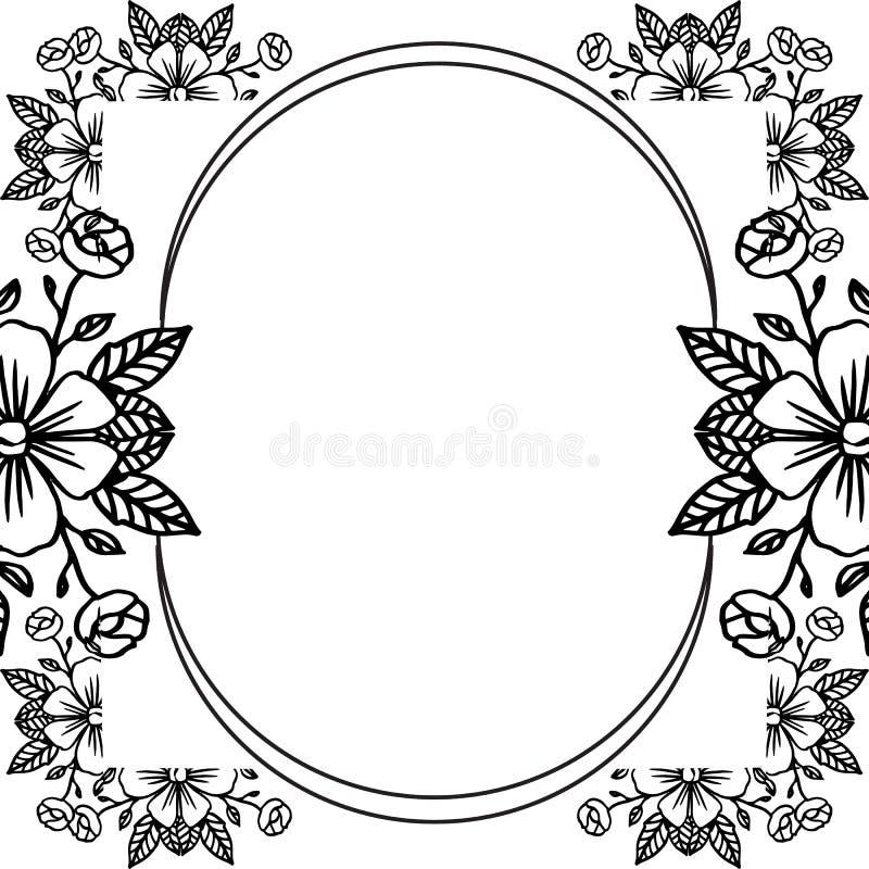 Шаблон для карты дизайна, милое флористического, график орнамента r иллюстрация штока