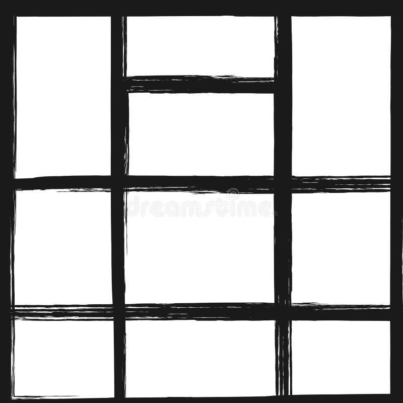 Шаблон для коллажа фото Квадратная предпосылка с прямоугольными рамками иллюстрация вектора