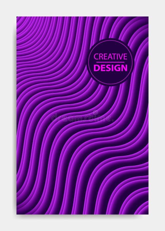 Шаблон для представления украшения, брошюра дизайна крышки, каталог, плакат, книга, журнал иллюстрация вектора