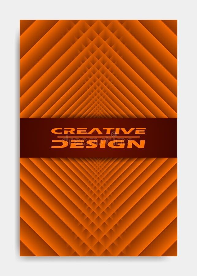 Шаблон для представления украшения, брошюра дизайна крышки, каталог, плакат, книга, журнал иллюстрация штока