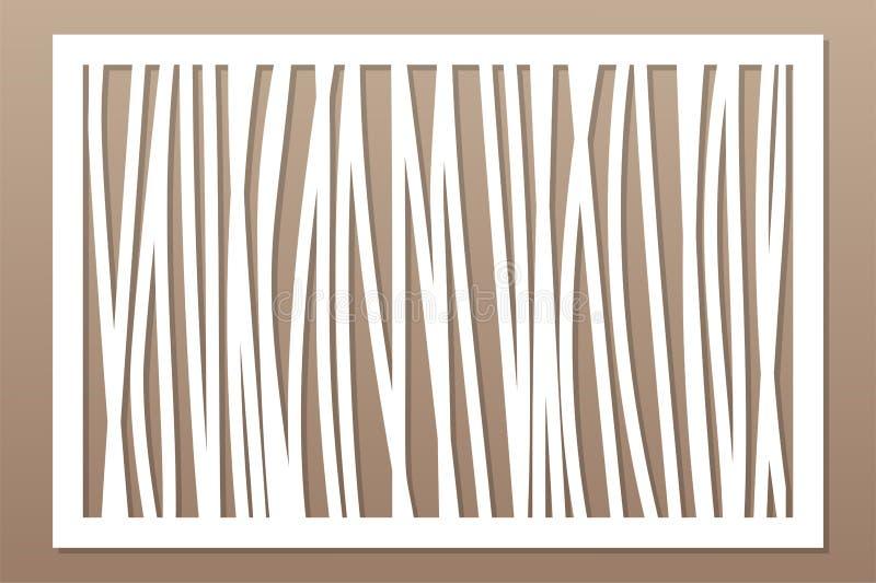 Шаблон для резать Абстрактная линия, геометрическая картина Отрезок лазера Установите 2:3 коэффициента также вектор иллюстрации п иллюстрация штока