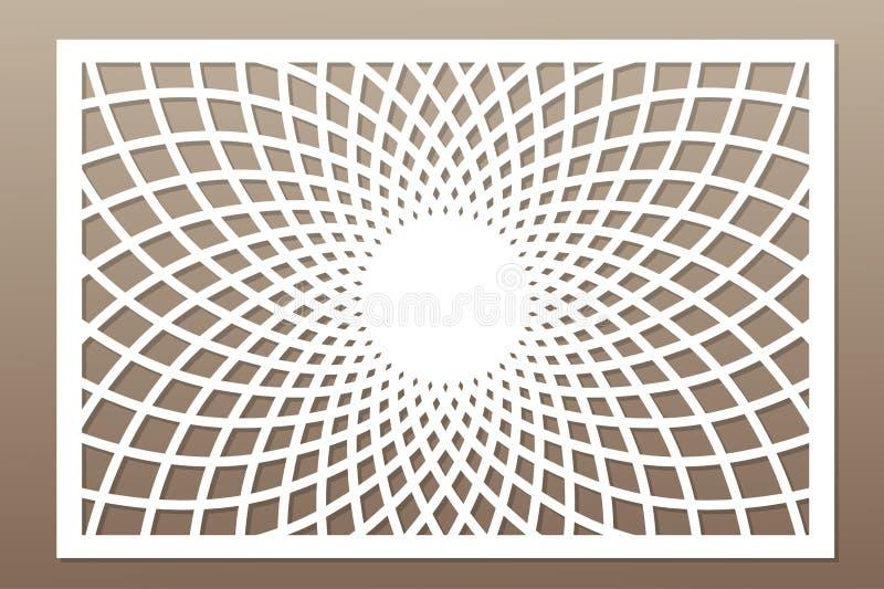 Шаблон для резать Мандала, картина арабескы Отрезок лазера крыса иллюстрация вектора