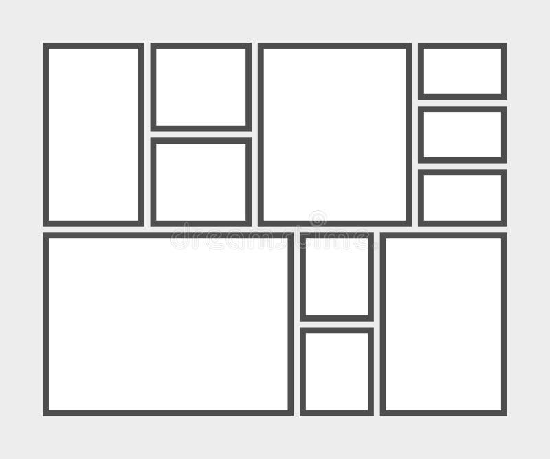 Шаблон доски настроения, для любого случая иллюстрация вектора