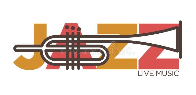 Шаблон значка вектора концерта живой музыки джаза саксофона бесплатная иллюстрация