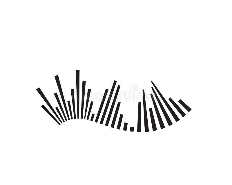 шаблон значка вектора логотипа ilustration звуковой войны иллюстрация вектора