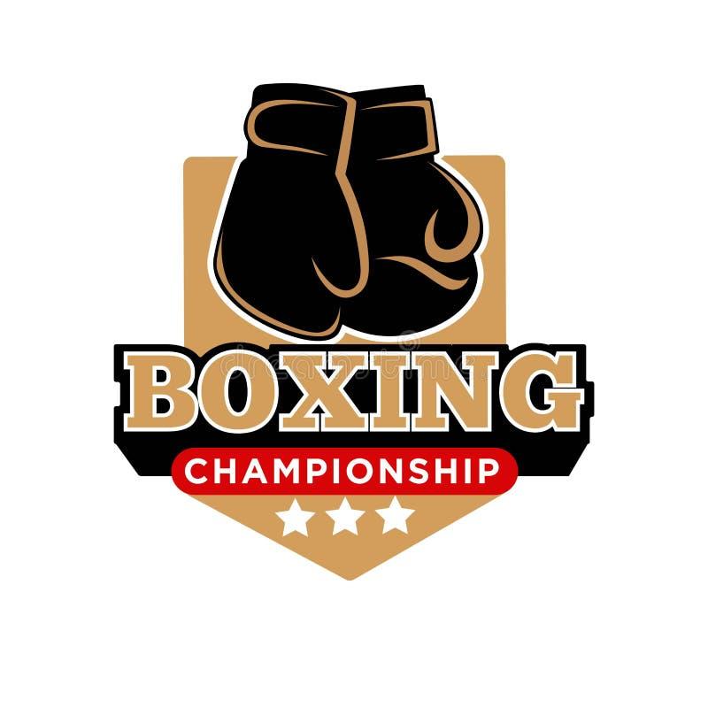 Шаблон значка вектора чемпионата бокса перчаток коробки боксера бесплатная иллюстрация