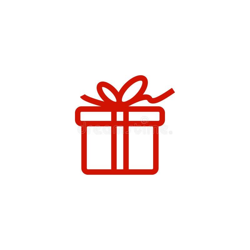 Шаблон значка подарочной коробки иллюстрация штока