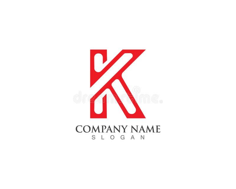 Шаблон значков и логотипов вектора Leter k конструирует бесплатная иллюстрация