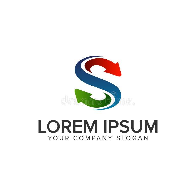 Шаблон идеи проекта логотипа вход-выхода письма s полно editable бесплатная иллюстрация