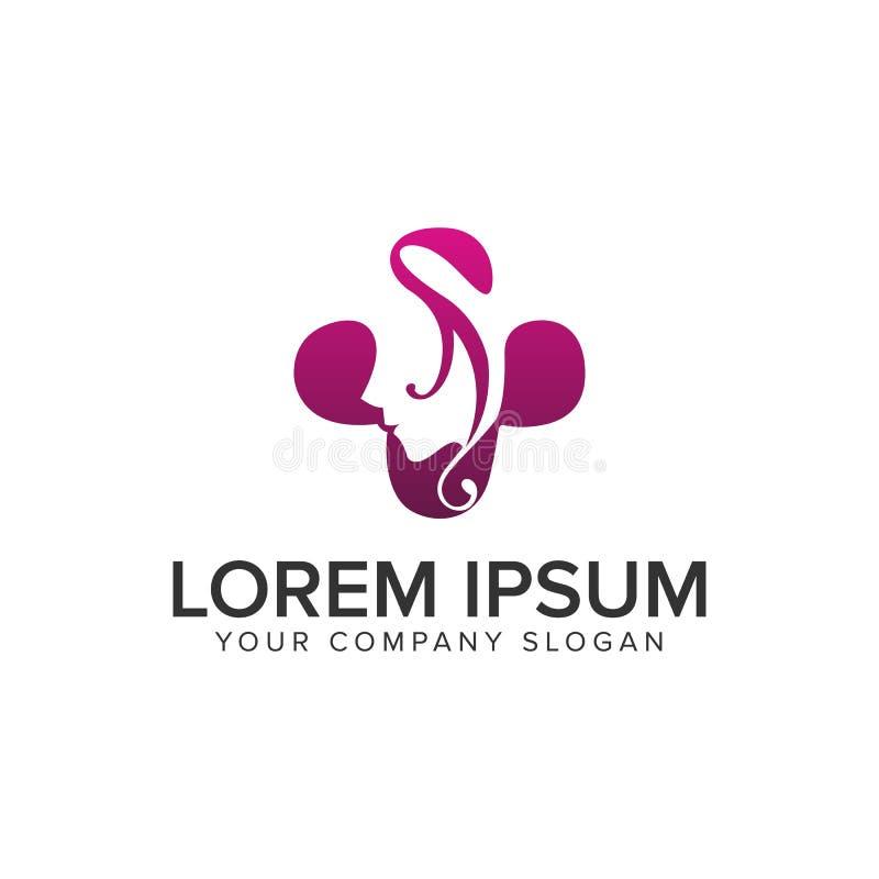Шаблон идеи проекта логотипа женщин спа красоты полно editable бесплатная иллюстрация