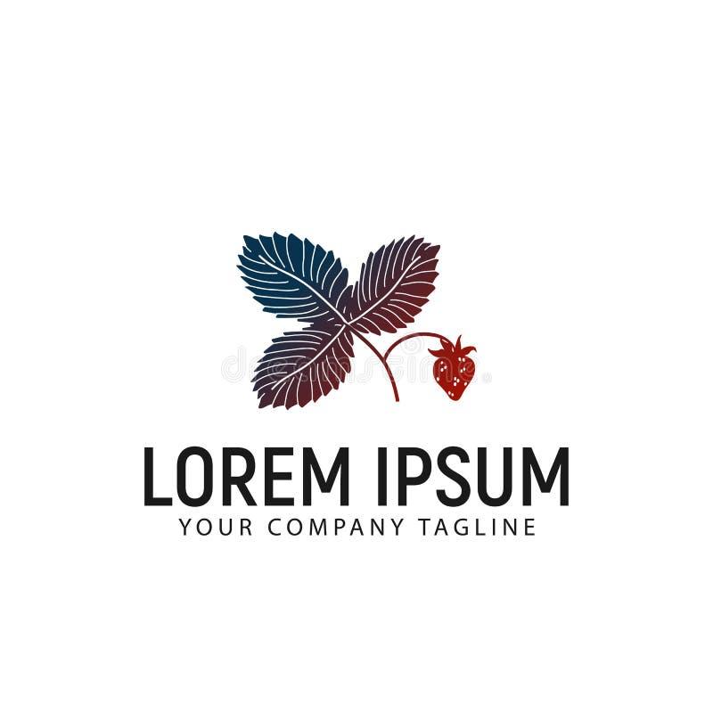 Шаблон идеи проекта логотипа клубники бесплатная иллюстрация