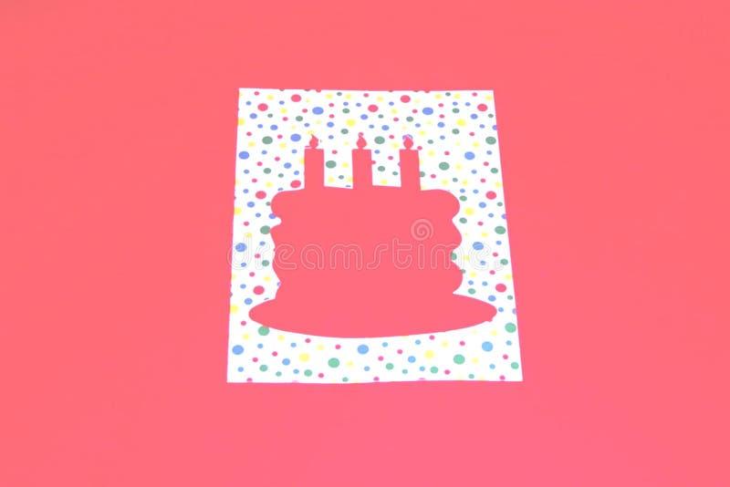 шаблон именниного пирога Стоковые Фото