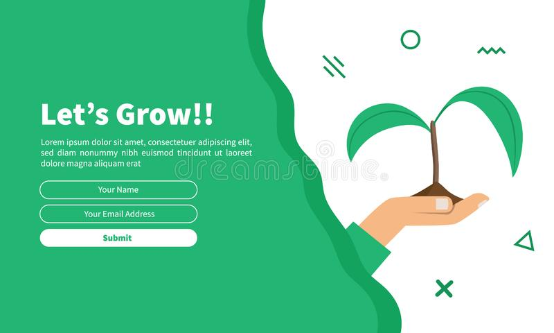 Шаблон карты с декоративным зеленым пером для веб-дизайна бесплатная иллюстрация