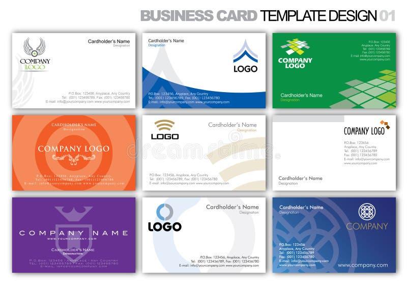 шаблон конструкции визитной карточки 001 бесплатная иллюстрация