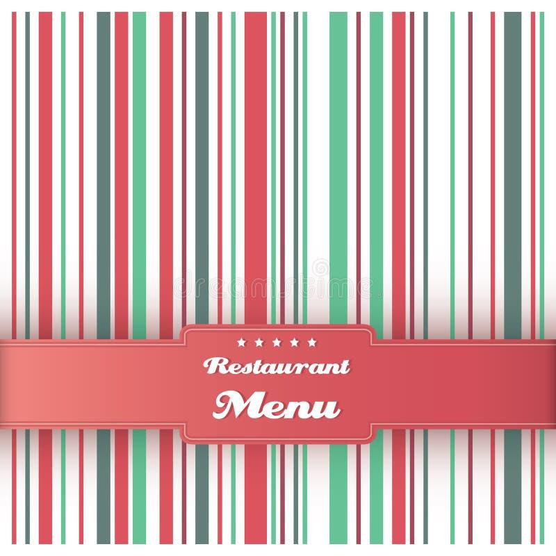 Шаблон конструкции карточки меню ресторана. Вектор. бесплатная иллюстрация