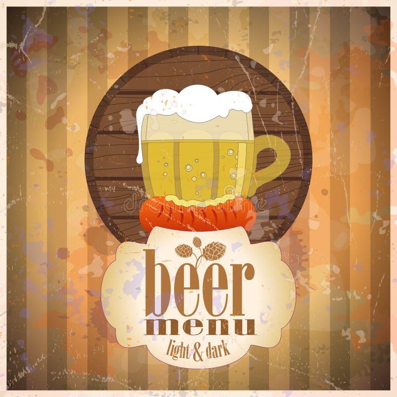 Шаблон конструкции меню пива. бесплатная иллюстрация