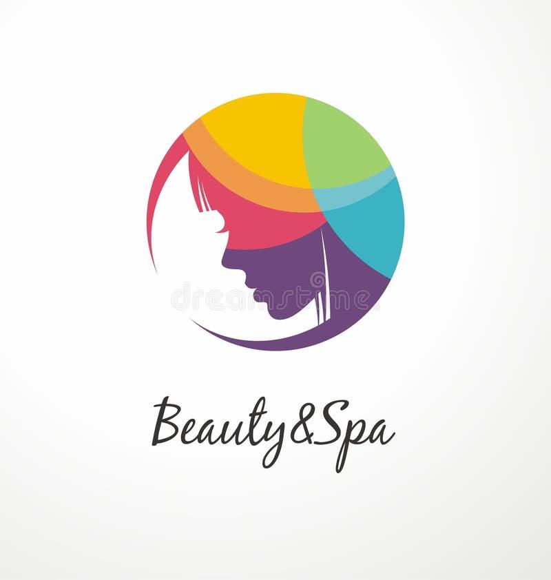 Шаблон красоты и дизайна логотипа спа красочный иллюстрация штока